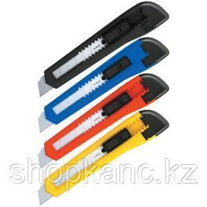 Нож канцелярский 18 мм, Office, push-lock, европодвес.