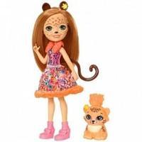 Mattel Enchantimals  Кукла с любимой зверюшкой - Чериш Гепарди