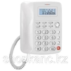Телефон проводной, ТХ-250, белый.
