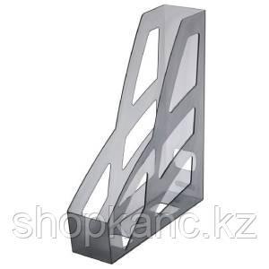 Лоток вертикальный ЛИДЕР тонированный  серый  ЛТ124