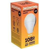 Лампа светодиодная, ECO LED GLS, E27, 10W40.