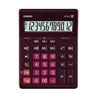 Калькулятор настольный, 12 разрядный CASIO GR-12C-WR-W-EP бордовый
