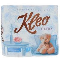 Туалетная бумага, Мягкий знак, Kleo Ultra, 3-х сл., 4 шт/упак.
