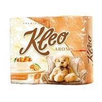 Туалетная бумага, Мягкий знак, Kleo, с ароматом Мандарина, 3-х сл., 4 шт/упак.
