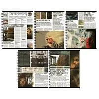 """Тетрадь А5, 96 листов в клетку """"Proff. Newspaper"""", офсет/цветной мелованный картон+ВД-лак/спираль"""