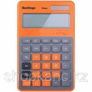 """Калькулятор настольный Berlingo """"Hyper"""", 12 разр., двойное питание, 171*108*12, оранжевый"""