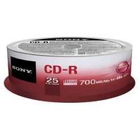 Диски Sony, CD-R 25 шт. шпиндель.