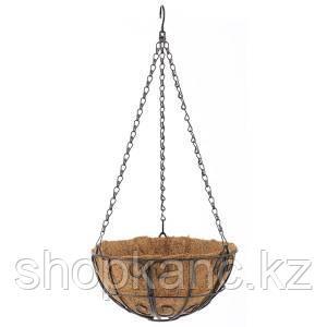 Подвесное кашпо с орнаментом, 25 см, с кокосовой корзиной
