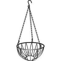 Подвесное кашпо, диаметр 25,4 см, высота с цепью и крюком 53,5 см