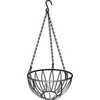 Подвесное кашпо, диаметр 26 см, высота с цепью и крюком 53,5 см