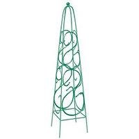 Пирамида садовая декоративная для вьющихся растений, 112,5 х 23 см, квадратная