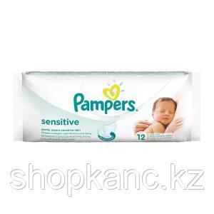Детские влажные салфетки Pampers Sensititve 12 шт