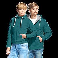 Двухцветные мужские/женские толстовки под нанесением логотипа с флисом внутри