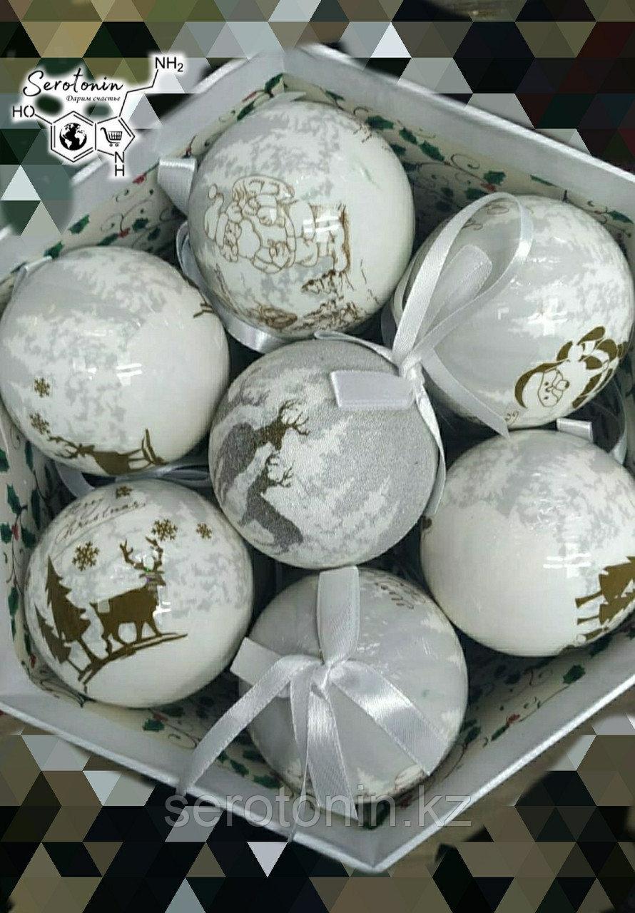 Набор ёлочных шаров с рисунком