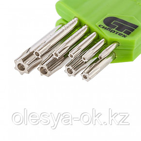Ключи имбусовые Tamper-Torx 9 шт, T10-T50, СИБРТЕХ. 12322, фото 2