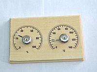"""Банная станция открытая термометр+гигрометр """"прямоугольная"""" СБО-2ТГ"""