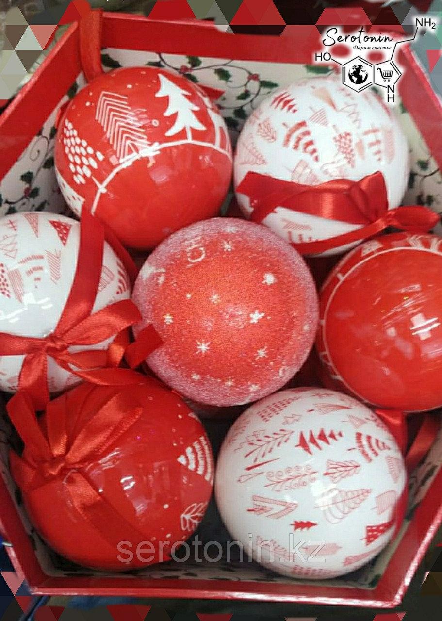 Новогодние шары в подарочной упаковке