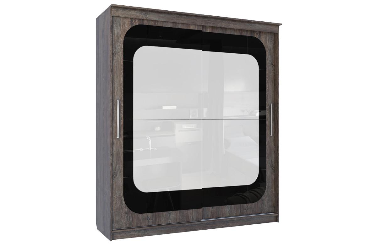 Шкаф-купе 19 Инфинити, (2000), Дуб Сонома/Сосна Санторини темный, СВ Мебель