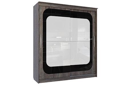 Шкаф-купе 19 Инфинити, (2000), Дуб Сонома/Сосна Санторини темный, СВ Мебель, фото 2