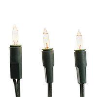 Гирлянда 15м желтая с большими лампочками зеленый кабель 1,5м 100 диодов LED