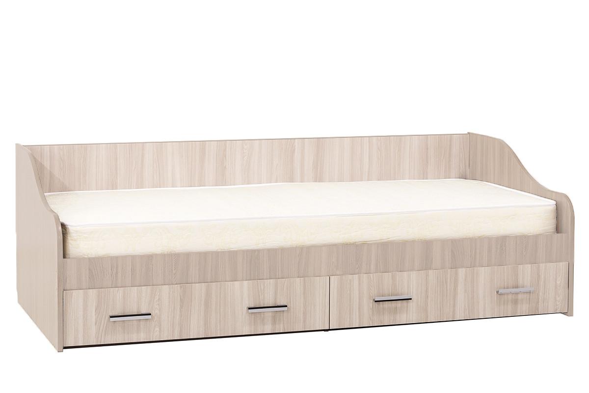 Кровать односпальная, модульной системы Город, Ясень, СВ Мебель (Россия)