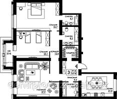3 комнатная квартира в ЖК Paris 167.8 м²