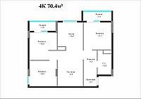 4 комнатная квартира в Айсафи 70.4 м², фото 1
