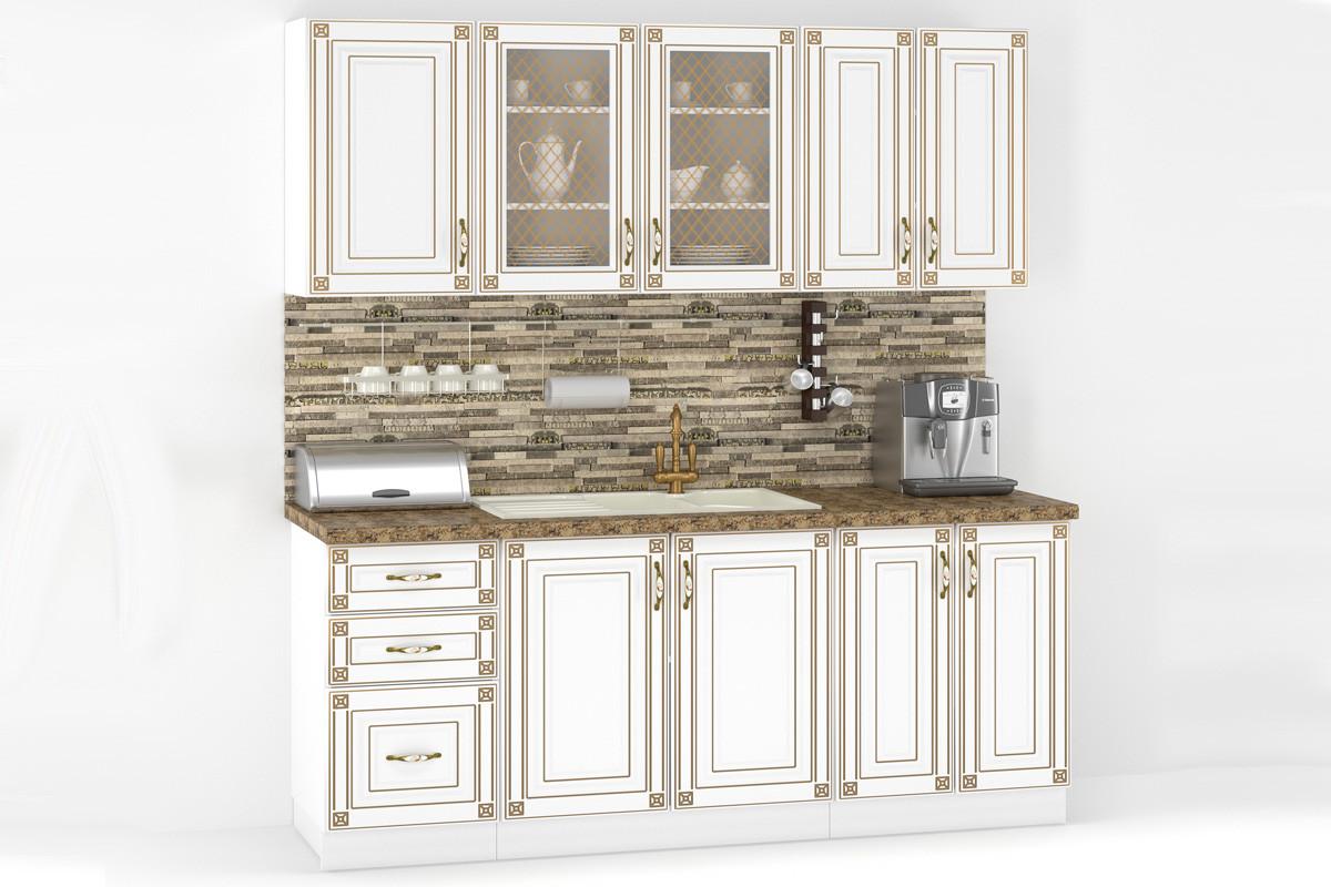 Комплект мебели для кухни Империя 1800, Белый, MEBEL SERVICE(Украина)