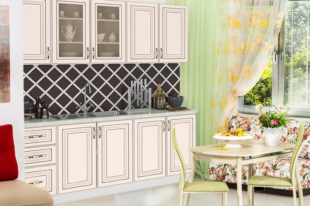 Комплект мебели для кухни Империя 2000, Бежевый, MEBEL SERVICE(Украина)