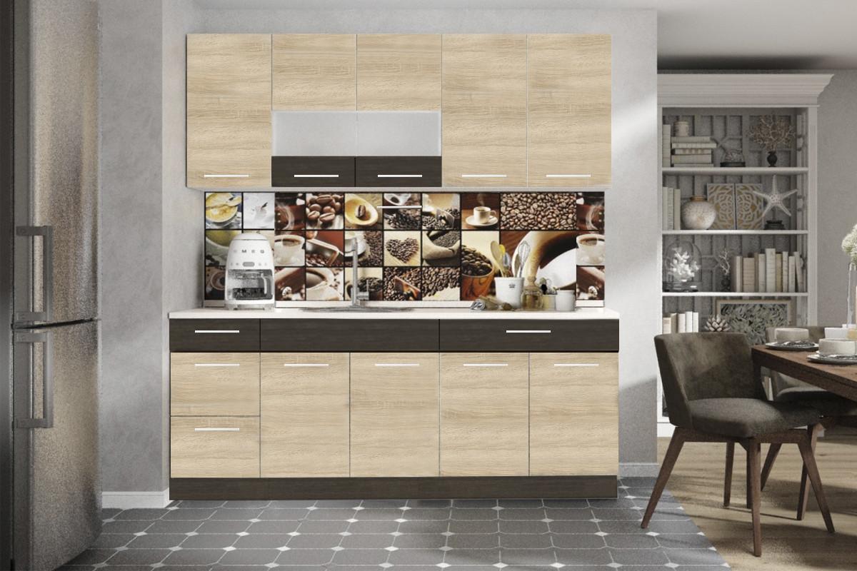 Шкаф кухонный 800, 2Д  как часть комплекта Грета, Сонома, MEBEL SERVICE (Украина)