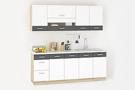 Комплект мебели для кухни Глобал 2000, Белый/Серый, MEBEL SERVICE(Украина)