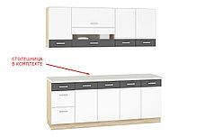 Комплект мебели для кухни Глобал 2000, Белый/Серый, MEBEL SERVICE(Украина), фото 3