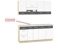 Шкаф-стол 400, 3Я как часть комплекта Глобал, Белый/Серый, MEBEL SERVICE (Украина), фото 3