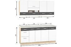 Шкаф-стол 400, 3Я как часть комплекта Глобал, Белый/Серый, MEBEL SERVICE (Украина), фото 2