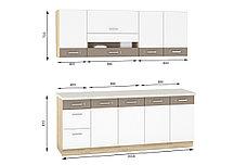 Шкаф кухонный 400,  1Д  как часть комплекта Глобал, Белый/Капучино, MEBEL SERVICE (Украина), фото 3