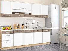 Шкаф кухонный 400,  1Д  как часть комплекта Глобал, Белый/Капучино, MEBEL SERVICE (Украина), фото 2