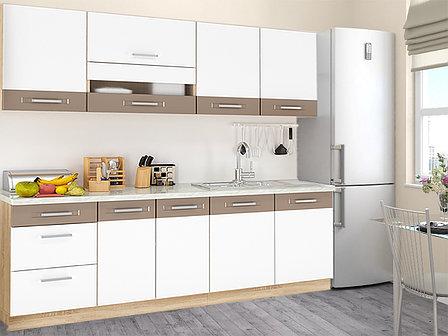 Комплект мебели для кухни Глобал 1800, Белый/Капучино, MEBEL SERVICE(Украина), фото 2