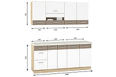Комплект мебели для кухни Глобал 1800, Белый/Капучино, MEBEL SERVICE(Украина), фото 3