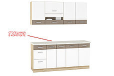 Шкаф-стол 400,3Я как часть комплекта Глобал, Белый, MEBEL SERVICE (Украина), фото 2