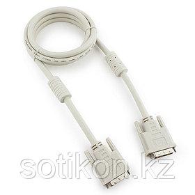 Кабель DVI-D dual link Cablexpert CC-DVI2-6C, 25M/25M, 1.8м, экран, феррит.кольца, пакет