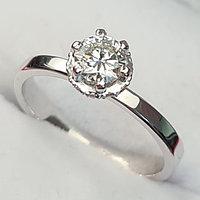 Сертификат GIA 0,45Сt VS1/I  Good-Cut Золотое кольцо с бриллиантом, фото 1