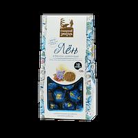 Конфеты Лён в белом шоколаде 10 шт коробка(~120 г)
