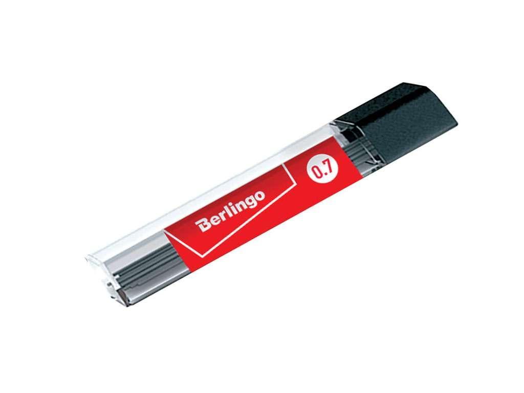 Грифели BERLINGO для механических карандашей, 0,7 мм, НВ