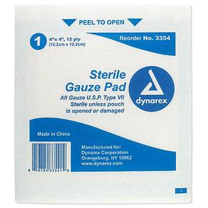 Бандаж, Марля и Повязка Dynarex Sterile Gauze Pads 4 X 4 (10.2 х 10х2) 12 3354, фото 2