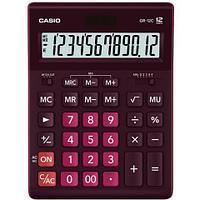 Калькулятор настольный CASIO GR-12C-WR-W-EP бордовый