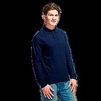 Однотонные мужские/женские рубашки поло с длинным рукавом под нанесением логотипа