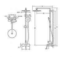 Душевая система BRAVAT F9172217CP-A-RUS Palace
