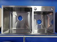 Кухонная мойка на две чаши Zeus HM 78/43 Сатин