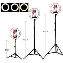 Кольцевая лампа «RING FILL LIGHT» со штативом для блогеров И BEAUTY-мастеров 26см, фото 3