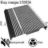 Охлаждающая подставка кулер для ноутбука 14 дюймов бесшумная металлическая GreenLife X-800